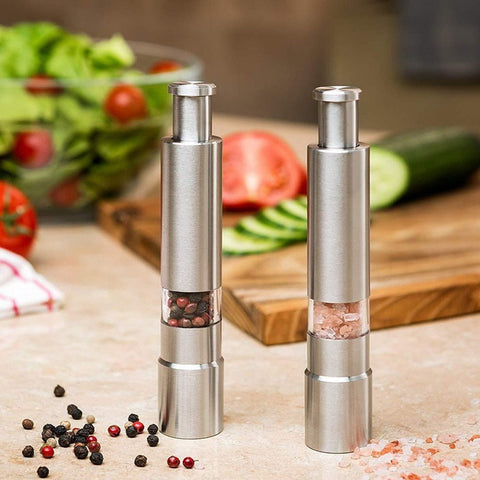Premium Stainless Steel Salt and Pepper Spice Grinder