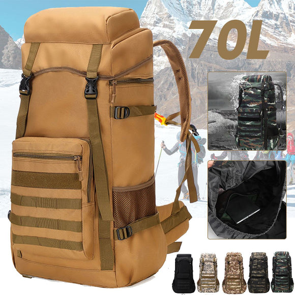 Waterproof Outdoor Camping 70L Military Backpack