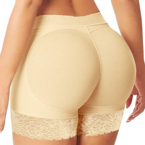 Padded Body Shaper Butt Lifter Panty in Beige