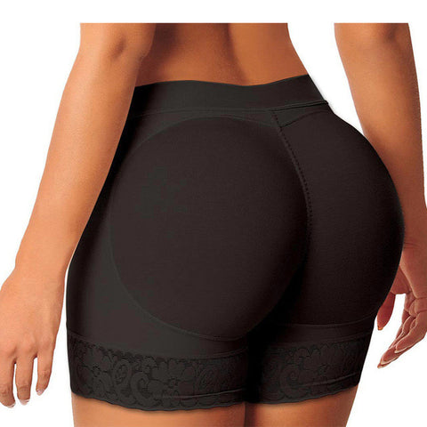 Padded Body Shaper Butt Lifter Panty in Black