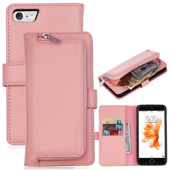 2 in 1 Leather Flip Waller Card Holder Case For iPhone and Samsung Galaxy - Onetify