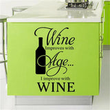 Home Decor Wine Theme Wall Stickers 5 pcs set