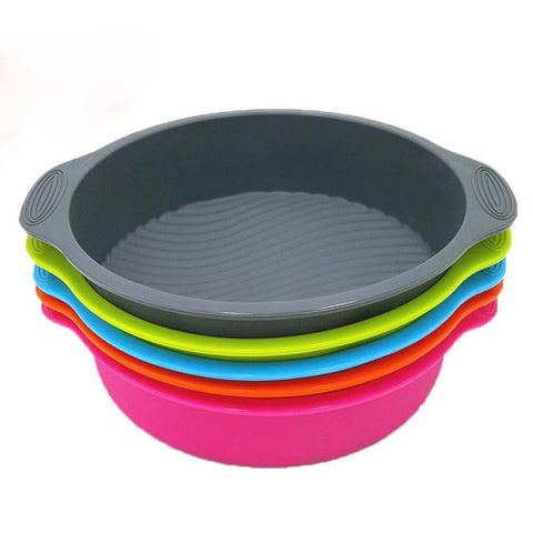 9 inch DlY Round Cake Pan Shape 3D Silicone Cake Mold - Onetify