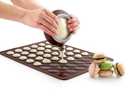Silicone Macaron Macaroon Pastry Oven Baking Mould Sheet Mat DIY Mold 48