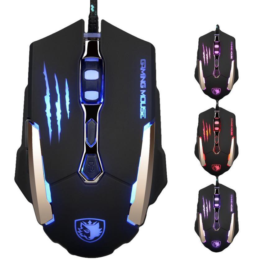 High Quality 3500 DPI Wired Gaming LED Optical Mouse with 7 Buttons