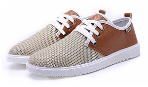 Mens Casual Lace Up Breathable Sneakers