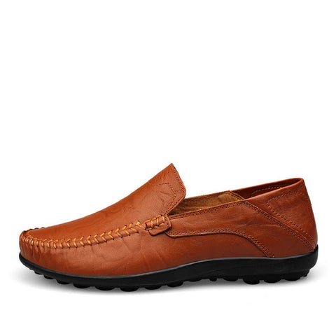 Mens Vegan Leather Anti Skid Loafers