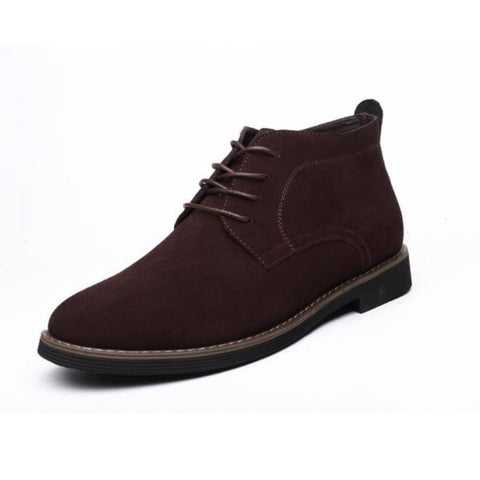 Mens Casual Lace up Suede Short Boots