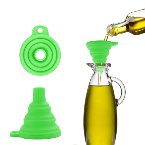 3 inch width Collapsible Silicone Funnel 9 PCS Set