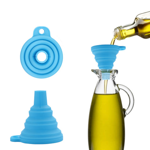 3 inch width Collapsible Silicone Funnel