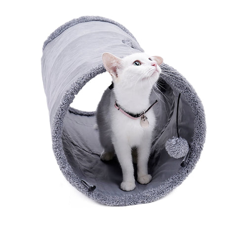 Foldable Pets Play Tube Set with Removable Ball