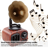 Vintage Radio True Wireless Bluetooth Mini Speaker with Microphone 4th Generation