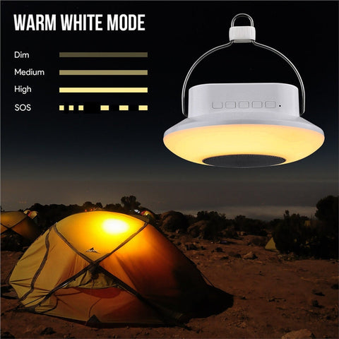 Touch Control LED Camping Light Bluetooth Speaker