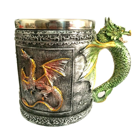 3D Dragon Theme Stainless Steel 12oz  Mug