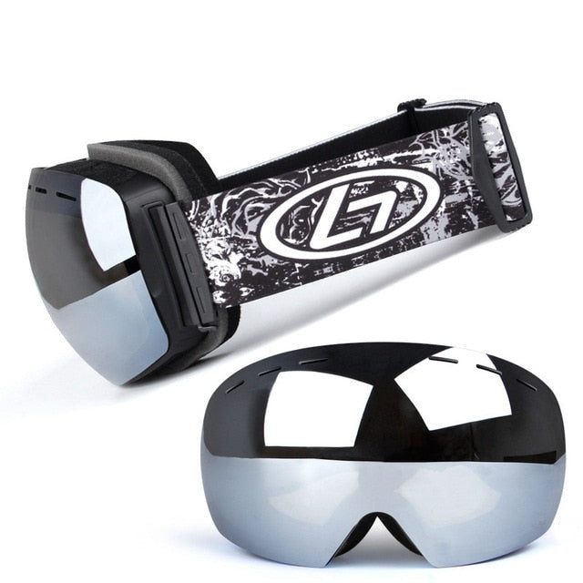 Double Layers UV 400 Protection Anti Fog Ski Goggles