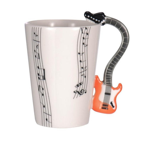 Creative Musical Notes and Musical Instrument Coffee Mug