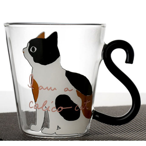 Cat Lover Creative Cartoon 8.5oz Glass Mug