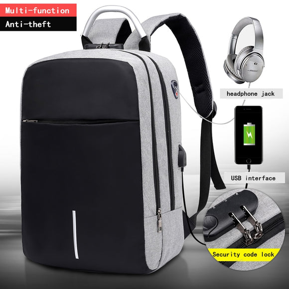 Multifunctional Anti Shock Backpack with USB and Headphone Port