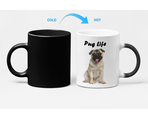 Pug Life Heat Sensitive Color Changing Mug for Dog Lovers