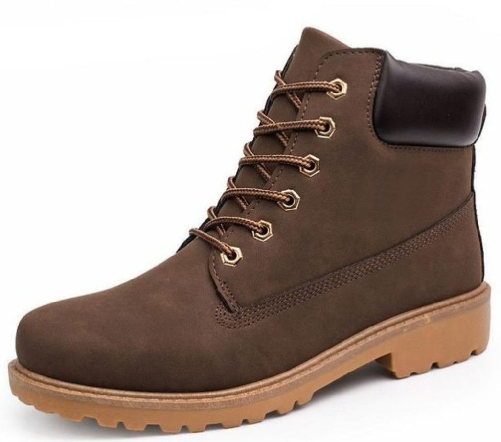 Mens Army Style Waterproof Boots