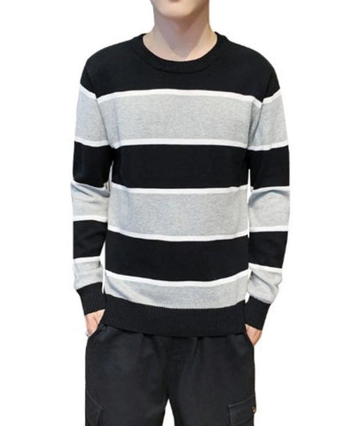 Mens Casual Breathable Crew Neck Sweater