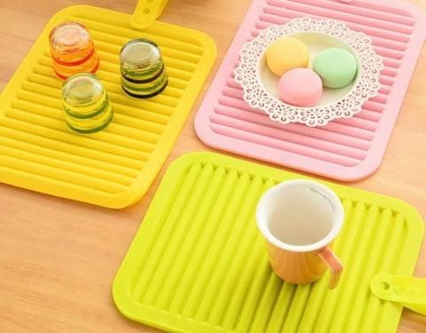 Colorful Non Slip Heat Resistant Kitchen and Table Mats 4 pcs set