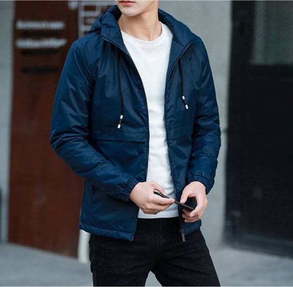Mens Windbreaker Jacket in Navy