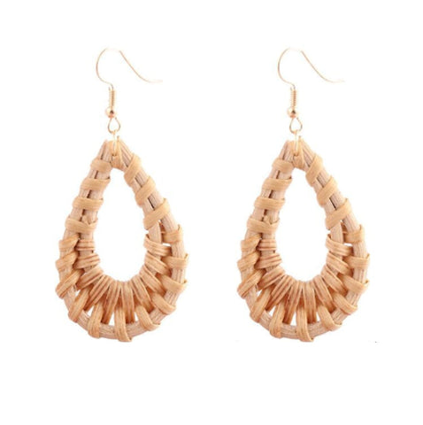 Rattan Waterdrop Earrings