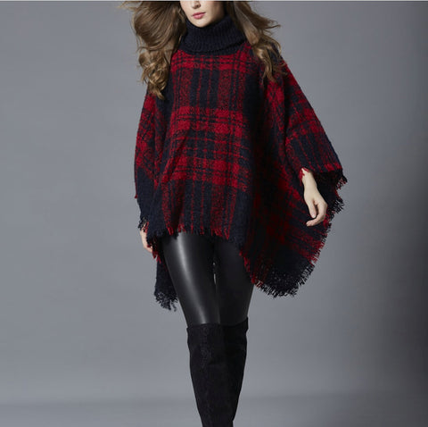 Womens Turtleneck Poncho