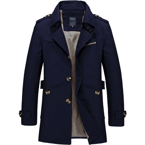 Mens Mid Length Trench Coat