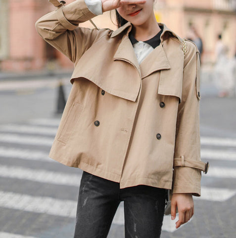 Womens Short Trench Coat