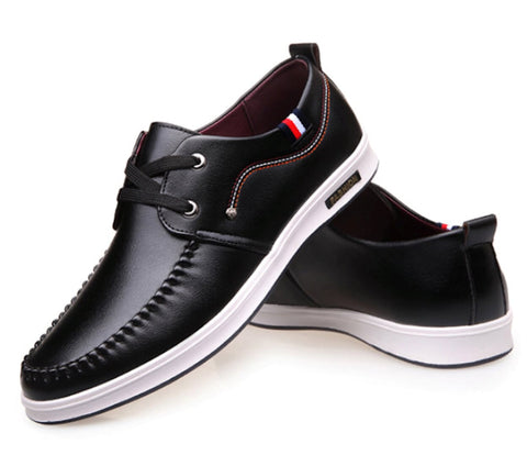 Mens Vegan Leather Boat Shoes