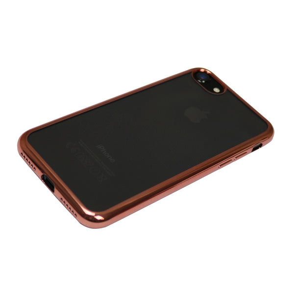 Transparenter iPhone Case mit Rosé Gold-Ränder