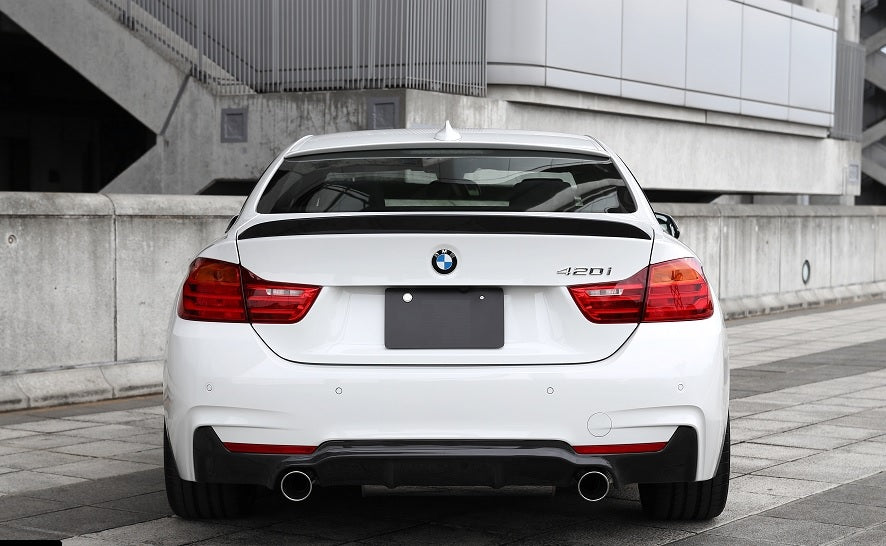 BMW F32 F33 F36 3D Performance Style Carbon Diffuser (DUAL TIPS)