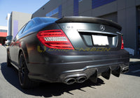C63 W204 Carbon Fiber Trunk Spoiler COUPE
