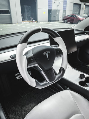 Model 3 Steering Wheel Carbon Fiber Inserts