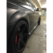 W204 C63 Coupe/Sedan Carbon Fiber Side Skirt Extensions