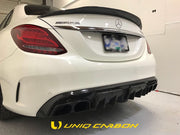 C63S W205 GTC Sedan Carbon Trunk Spoiler