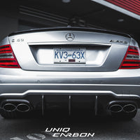Mercedes W204 C63 Facelift Big Fin Carbon Fiber Diffuser