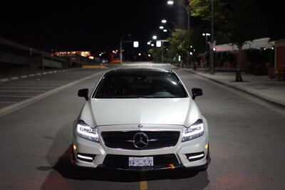 W218 CLS550 3 PC Carbon Front Lip