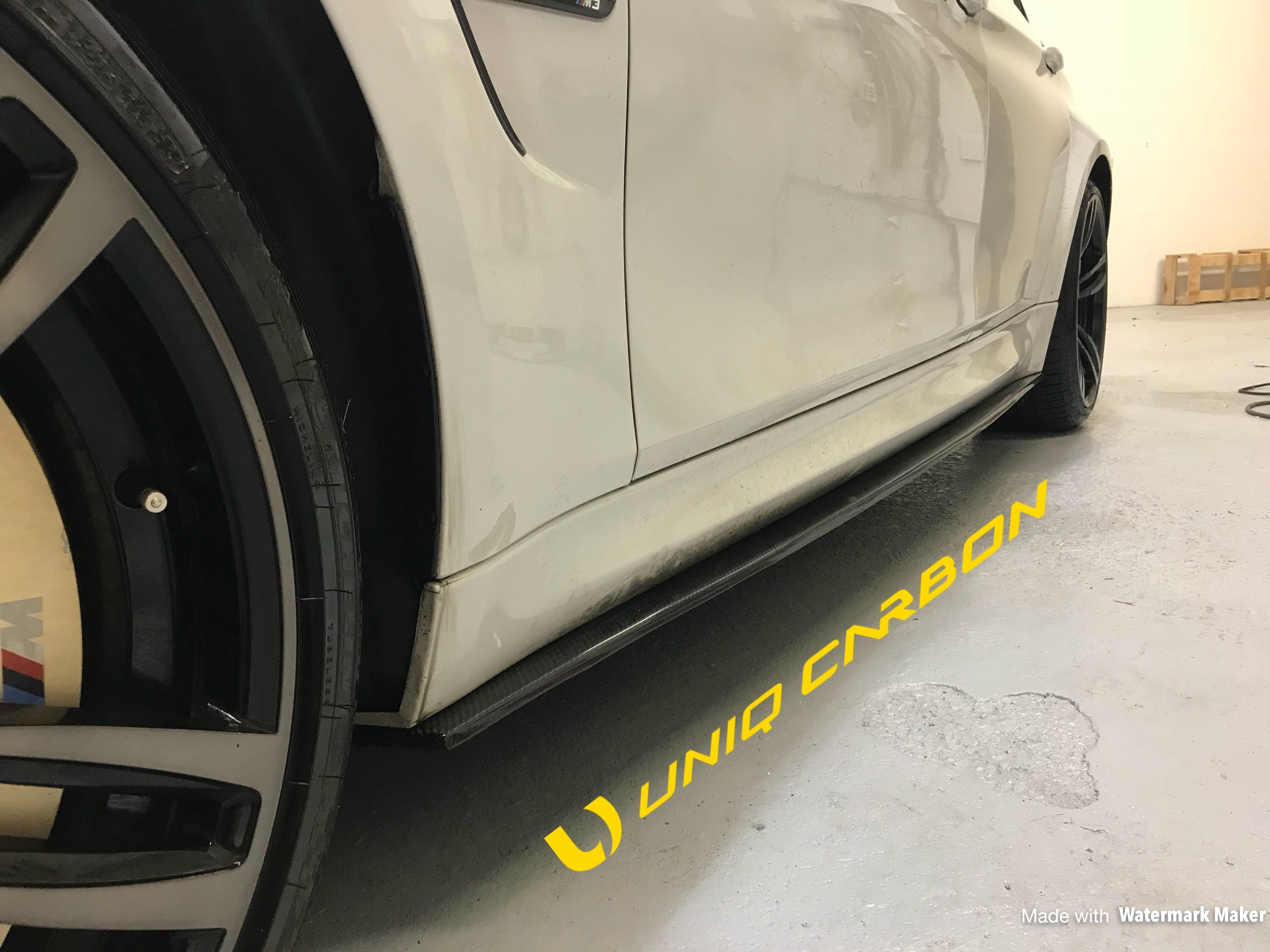 BMW F80 M3 M performance Style Carbon Side Skirt Extensions