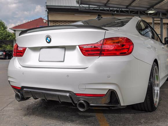 BMW F32 F33 F36 Performance Style Carbon Diffuser