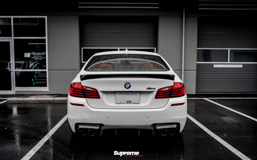 BMW F10 M5 V-Style Carbon Trunk Spoiler