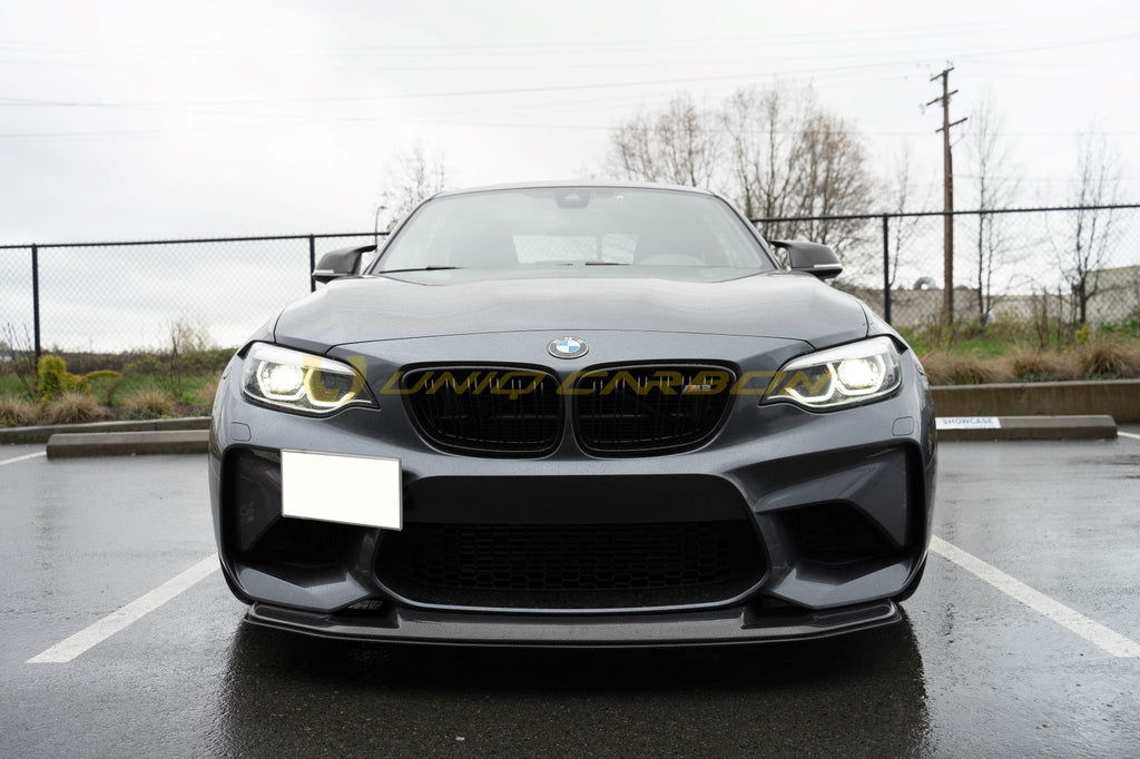 BMW F87 M2 RK Style Carbon Fiber Front lip + Lower Splitter