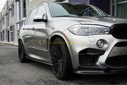 BMW F15 X5 X5M F85 Carbon Fiber Side Skirts Extensions