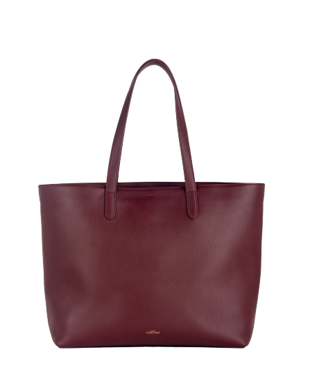 Aimee Leather Tote (Burgundy)