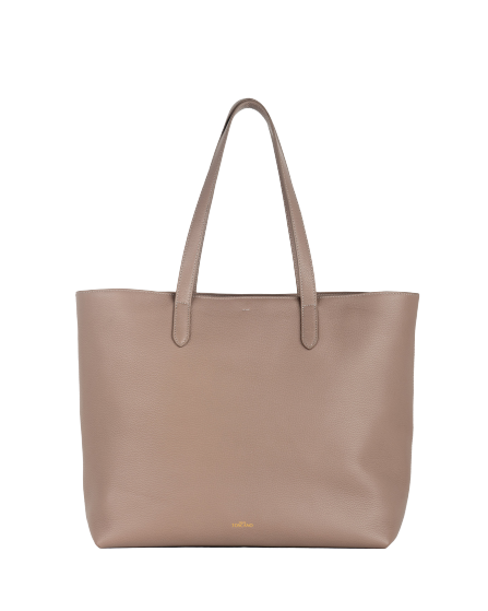 Aimee Leather Tote (Grey)