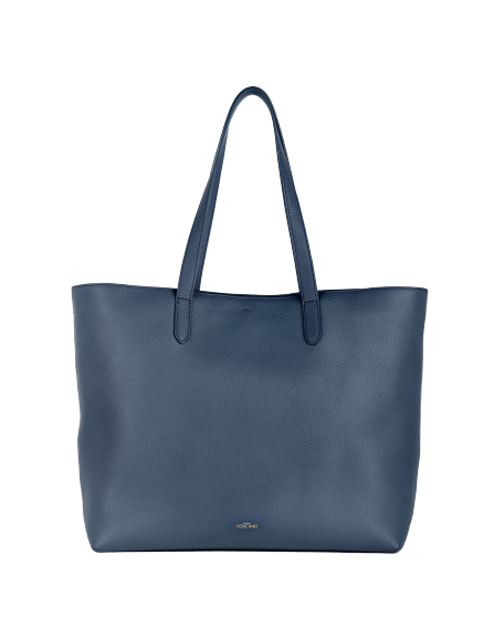 Aimee Leather Tote (Navy)