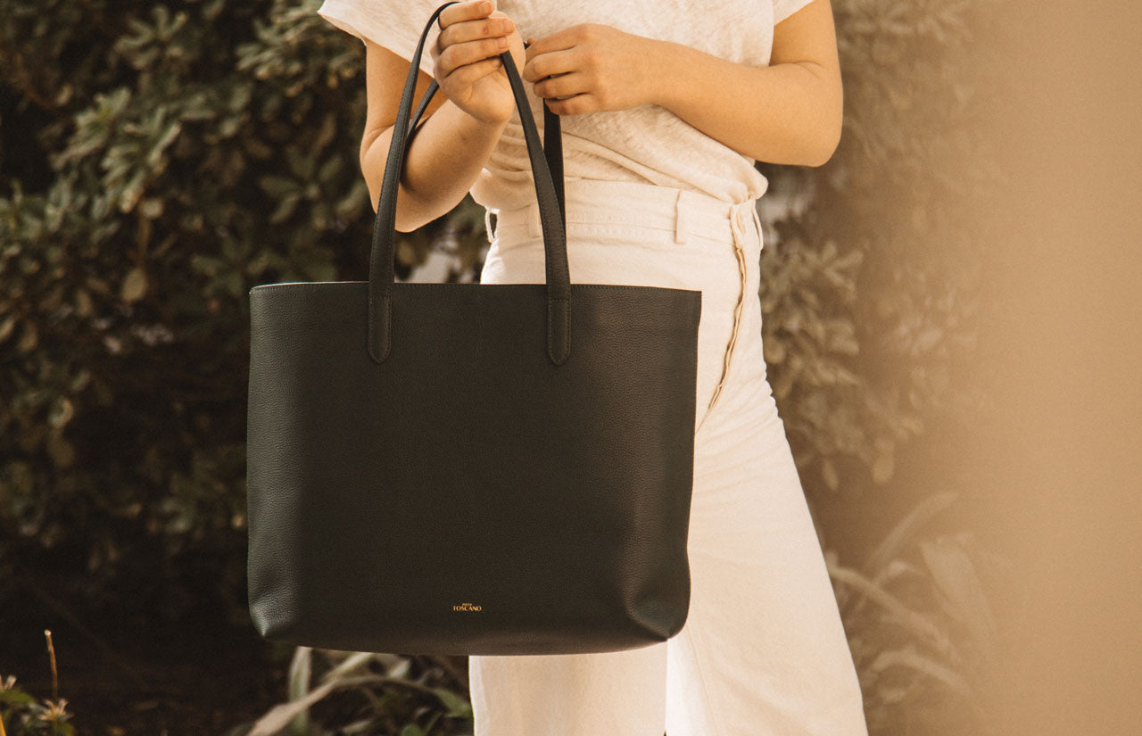 AIMEE LEATHER TOTE