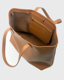 Aimee Leather Tote (Camel)
